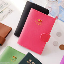 Ribbon Passport Case Holder Cover Travel Card Wallet Protector Cute Organizer
