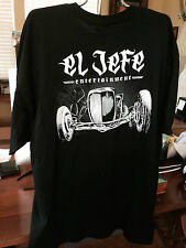 Jesse Jame's El Jefe - Austin Speed Shop 100% Cotton, Black, Graphic Tee and Sho