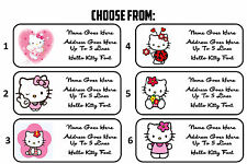 Custom Personalized Hello Kitty Return Address Mailing Labels
