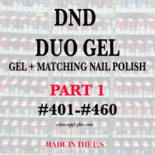 DND DAISY DUO GEL - (GEL W/ MATCHING LACQUER) NAIL POLISH SET - CHOOSE COLOR