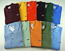 Men's Lacoste Polo Shirt AUTHENTIC SM MED LRG XL 2XL 3XL (Sz 4-9) NWT