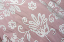 Pink/White Floral Chenille Prestigious Curtain/Upholstery/Craft Fabric