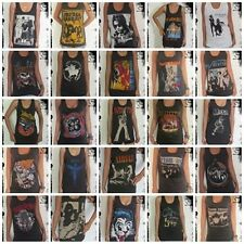 **Retro Rock Unisex Vest** Singlet Tank-Top (T-Shirt Dress) Sizes S M L XL
