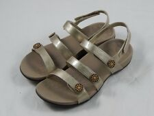 Vionic by Orthaheel Cathy Triple Strap Gold Sandals PREOWNED