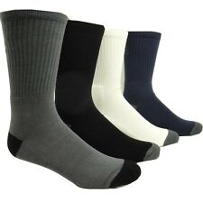 2 Pair Men's BAMBOO Cushion Crew SPORT Socks
