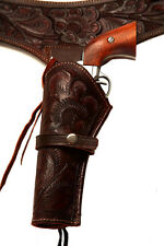 38/357 Caliber Brown LEFT HANDED Western Gun Holster