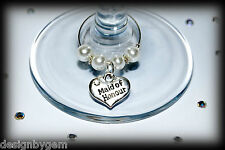 Wedding wine glass charms top table wine glass charms . Favour and table decs