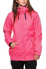 2015 NWT WOMENS ROXY VALLEY HOODIE 10K SNOWBOARD JACKET $170 bright pink