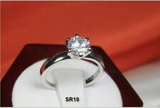 ROUND CUT 1.20 CT SOLITAIRE 925 STERLING SILVER ENGAGEMENT WEDDING RING SR-18-MS