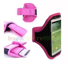 Pink Running Sport Armband GYM Skin Case Cover for Samsung Galaxy Phones 2015