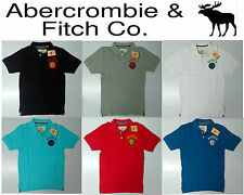 A&F Abercrombie & Fitch 2015 Mens/Boys Cotton Collar Polo T-Shirt Size S M L XL