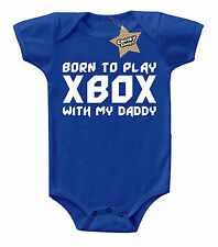 Baby Clothes Born XBox Gaming Daddy Bodysuit Vest Girl Boys Slogan Shower Gifts