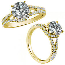 1.25 Carat G-H Diamond Fancy Solitaire Promise Anniversary Ring 14K Yellow Gold