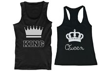 His and Hers Matching Couple Tank Tops - King and Queen - Sleeveless Tops