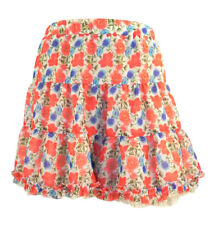 Atmosphere Coral Floral Print Tiered Skirt 3 Layers Elasticated Waist