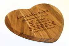 Personalised Premium Solid Oak Chopping Board, Anniversary Gift, Laser Engraved