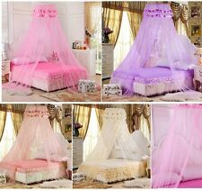 Fashion Princess Lace Mosquito Net Canopy Bites Protect For Twin Queen King Size