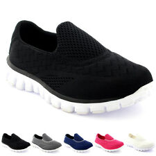 Womens Get Fit Mesh Walking Trainers Athletic Walk Gym Shoes Sport Run UK 3-9