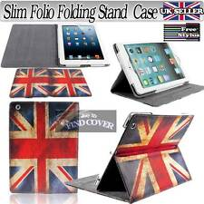 Brand NEW UNION JACK Slim Folio Pieghevole Stand Pelle Cover Custodia per Tablet