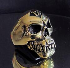 BIKER RING 1% ER ONE PERCENT ZOMBIE SKULL MC RENEGADE OUTLAW BRONZE ANY SIZE