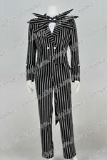 The Nightmare Before Christmas Cosplay Costume Jack Skellington Stripe Suit Cool