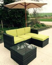 ZEST CORNER RATTAN SOFA OUTDOOR FURNITURE WEAVE 4 SEATER COFFEE TABLE GARDEN
