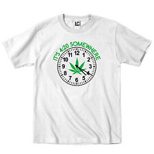 It's 4:20 Somewhere Marijuana Leaf Pot Weed Smoke 420 Legal Stoner Mens T-Shirt