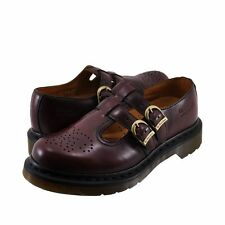 Dr. Martens Women`s Double Strap Mary Jane 8065 Red Smooth ALL SIZES