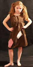 VICTORIAN Brown Annie/Workhouse/Orphan/Servant -Smock Patched FANCY DRESS outfit