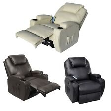 Cavendish manual recliner chair with heat and massage functions
