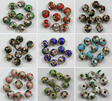 Wholsale 20/50pcs Cloisonne Enamel Round Spacer Loose Bead Jewelry Finding 6/8mm