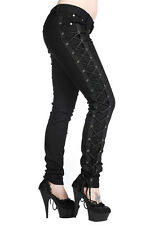 Banned Clothing Corset Jeans Black Pants Gothic Punk Lolita