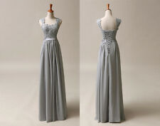 Long Chiffon Formal Evening Gowns Prom Ball Bridesmaid Dresses Stock  Size6-16