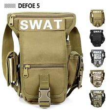 SWAT Police Motocycle Range Drop Leg Waist Thigh Soldier Heavy Duty Pouch Bag