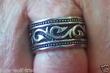 Stainless Steel Tribal Ring - Men's