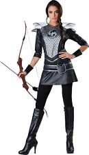 Adult Women's Midnight Huntress Katniss Cosplay Halloween Costume Fancy Dress