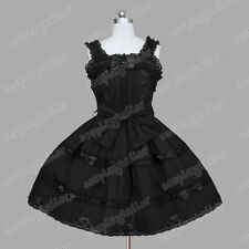Sweet Lolita Vintage Gothic Skirt Sleeveless Cute Dress Theatre Costume XS/S/M/L