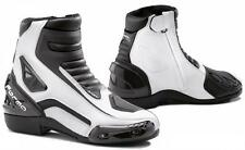Forma Axel Boots Black/White - Ankle Length Motorcycle Racing Boots