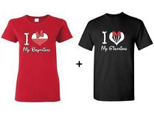Funny Couple T-shirt I love My BF/GF Matching Tee Cute Shirt Valentines Day Gift