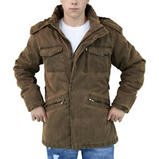 Surplus Xylontum Supreme Mens Jacket Warm Hooded Parka Water-Resistant Brown