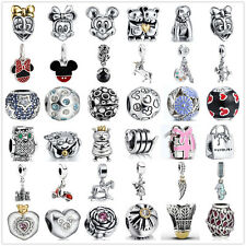 New Silver Charms Bead Fit European sterling 925 Necklace Bracelet Chain UK