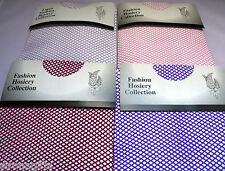 "Fishnet Fashion Tights in Various Colours Size Fits upto 42"" Hips"