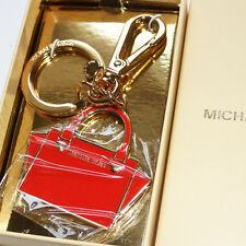 NEW  Micheal Kors Red Tote Key chain Fob New In Box