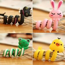 Cute Animal Long Wrap Earphone Headphone Cable Headset Winder Organizer Holder