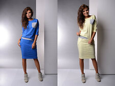 Elegant Short Sleeve Fashion Sexy Tunic Top Dress Ladies Girl Dresses Size 12 14