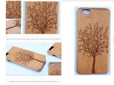 "Genuine Natural Wood Wooden Bamboo Hard Back Case Cover For 5.5"" iPhone 6"