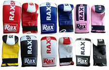 R A X Punch Bag Mitts Bag Gloves MMA Training Gloves Rex Leather Mitts ADULTS