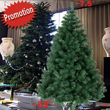 Artificial Christmas Tree 5-7.5ft Tall Spruce Metal Stand Folding Realistic PINE