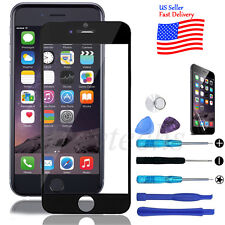 Front Screen Glass Lens Replacement Tool Kit Black for Apple iPhone 6 Plus 5.5''