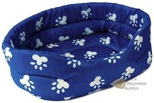 Pet Bed With Paw Prints, 4 Different Sizes To Pick From, Completely Washable